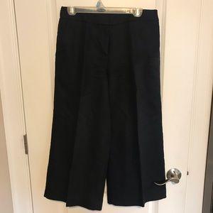 Cute wide leg cropped black pants